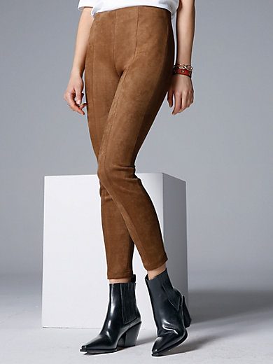comma, - Slip-on trousers in a suede look