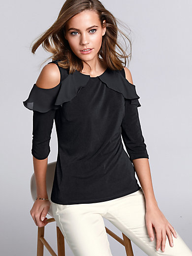 comma, - Top with 3/4-length sleeves