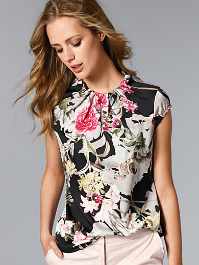 comma, - Top with cap sleeves