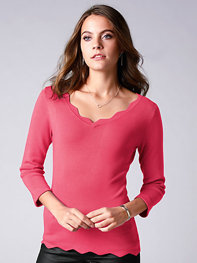 comma, - V-neck jumper with 3/4-length sleeves