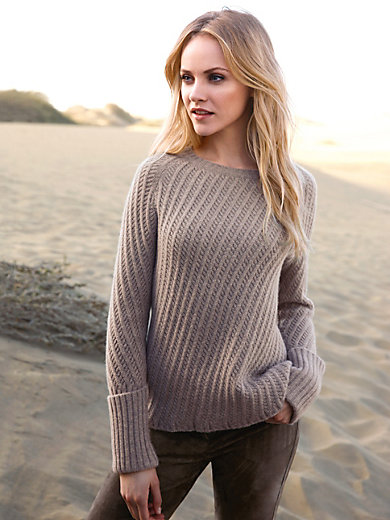 Daddy´s Daughters - Round neck jumper in 100% cashmere