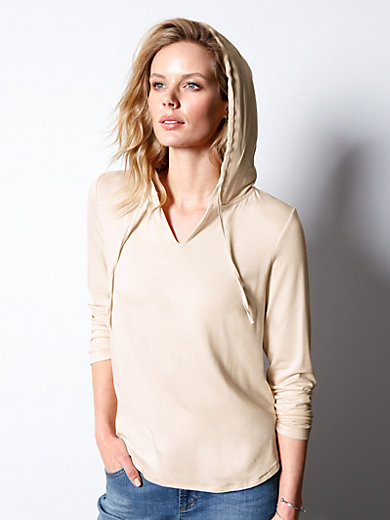 DAY.LIKE - Hoodie top with small v neck