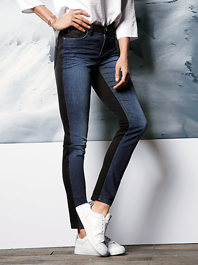 DAY.LIKE - Jeans mit kontrastfarbenen Rückteil