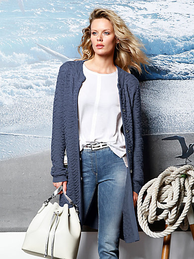 DAY.LIKE - Knitted coat with stand-up collar