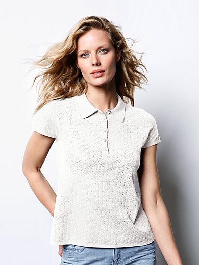 DAY.LIKE - Polo-Pullover mit 1/4-Arm