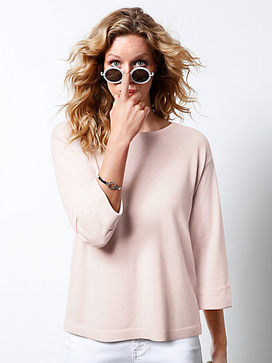 DAY.LIKE - Round neck jumper with 3/4-length sleeves