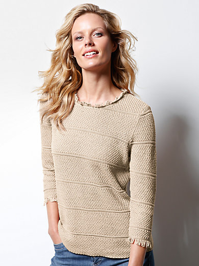 DAY.LIKE - Rundhals-Pullover mit 3/4-Arm