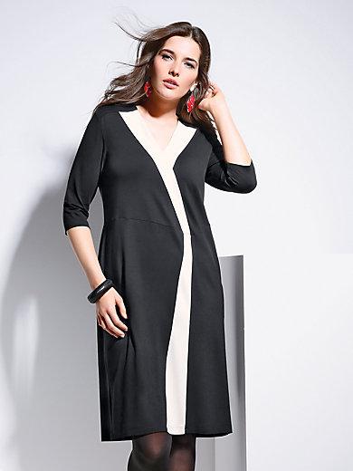 Doris Streich - Jersey-Kleid mit V-Ausschnitt