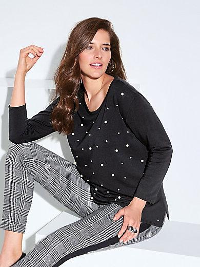 Doris Streich - Sweatshirt mit applizierten Zierperlen
