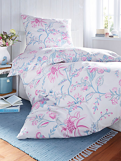 dormisette bettw sche garnitur ca 135x200cm ecru rosa bleu. Black Bedroom Furniture Sets. Home Design Ideas