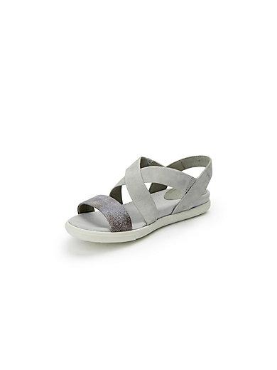 Damara sandals in 100% leather Ecco grey Ecco XRLox