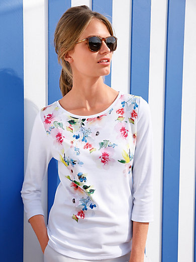 Efixelle - Boat neck top with 3/4-length sleeves