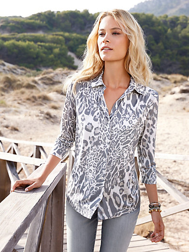 Efixelle - Jersey blouse with 3/4-length sleeves