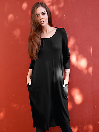 Efixelle - Jersey dress with 3/4-length sleeves