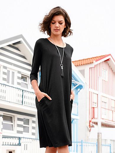Efixelle - La robe en jersey, ligne décontractée, manches 3/4