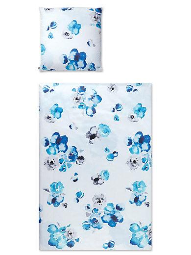 elegante bettw sche garnitur aus mako satin ca 135x200cm aqua multicolor. Black Bedroom Furniture Sets. Home Design Ideas