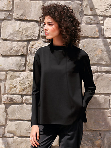 elemente clemente - Shirt with stand-up collar