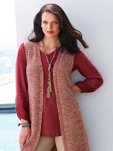 Emilia Lay - Bluse mit 3/4-Arm und V-Ausschnitt