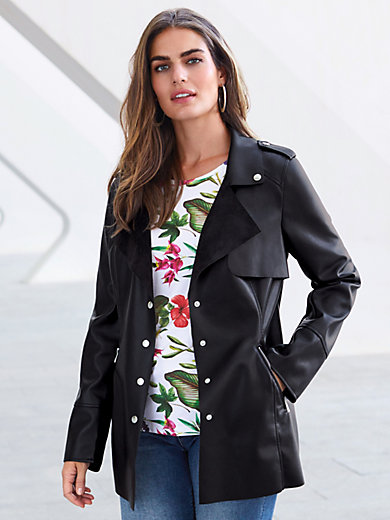 Emilia Lay - Faux leather jacket