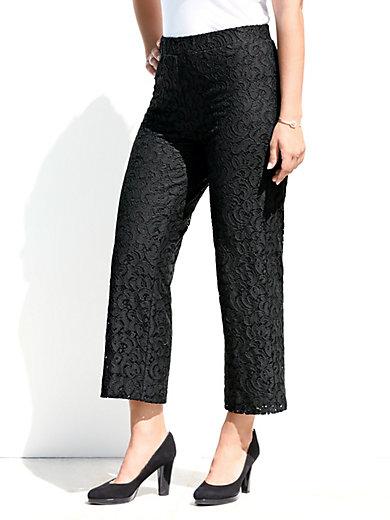 b4002478195b3 Emilia Lay - Le pantalon 7 8 en dentelle, jambes amples - noir