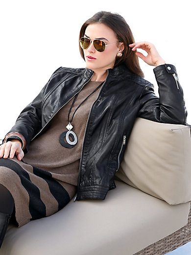Emilia Lay - Lederjacke aus Lammnappa