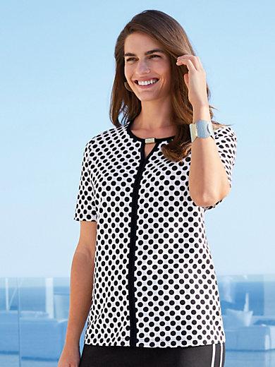 Emilia Lay - Punkte-Shirt mit Rundhals-Ausschnitt