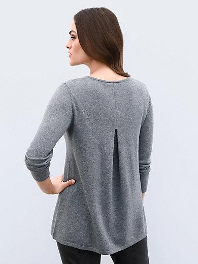Emilia Lay - Rundhals-Pullover aus Schurwolle-Merino mit Seide