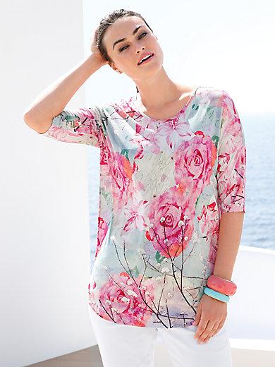 Emilia Lay - Shirt med rund hals og 3/4 ærmer