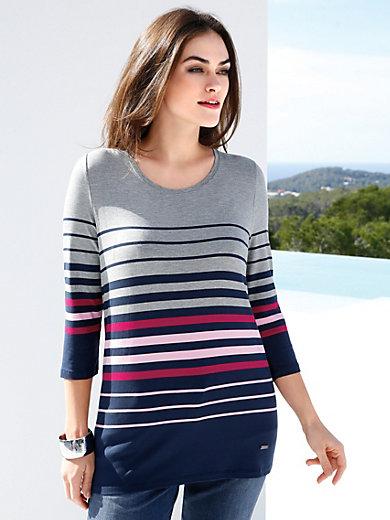 Emilia Lay - Shirt med rund hals og 3/4-lange ærmer