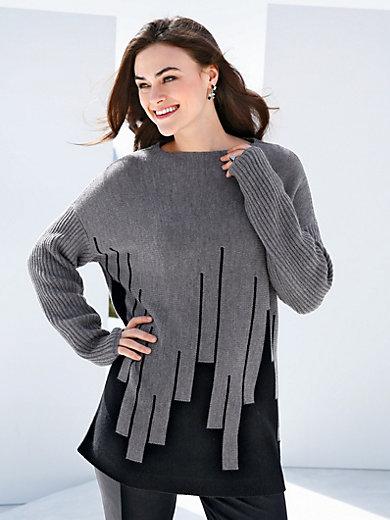 Emilia Lay - Strikbluse i 100% ren ny uld