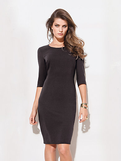 Escada-Shift-Kleid mit 3/4-Arm-Mokka