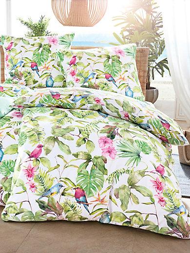 estella taie d 39 oreiller 80x80 housse de couette 135x200 vert multicolore. Black Bedroom Furniture Sets. Home Design Ideas