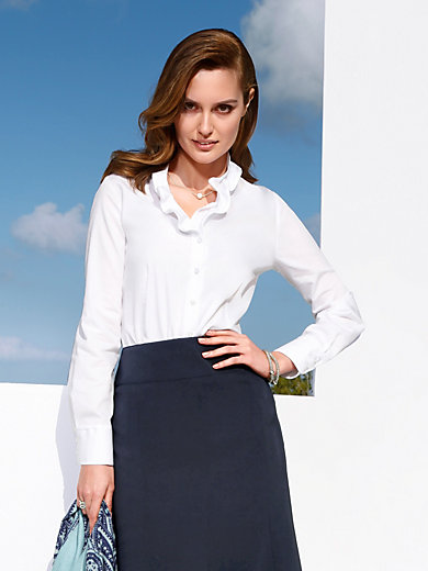 Eterna - Bluse in Comfort-Fit Paßform