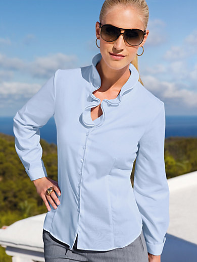 Eterna - V-neck blouse with frill