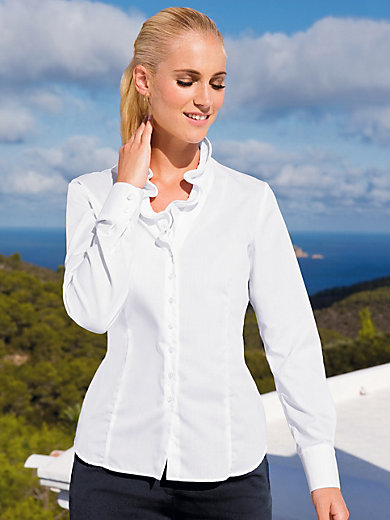 Eterna - V-neck blouse with frill