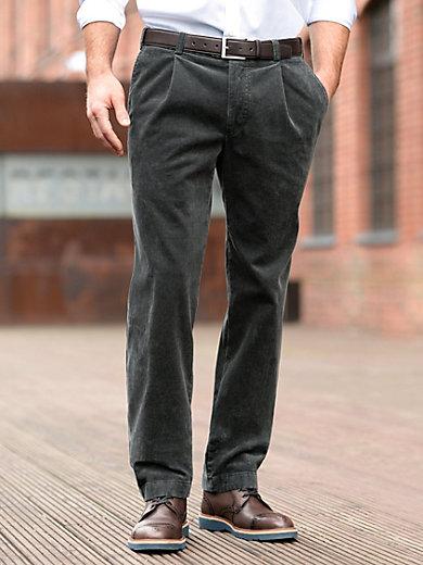 Eurex by Brax - Corduroy waist pleat trousers – LUIS