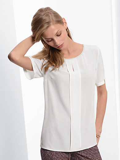 Fadenmeister Berlin - Blouse top in 100% silk with 1/2-length sleeves