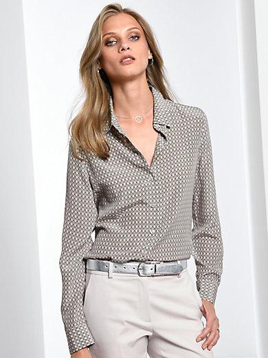 623f27b0a2b5 Fadenmeister Berlin - Bluse af 100% silke - Ecru multicolor