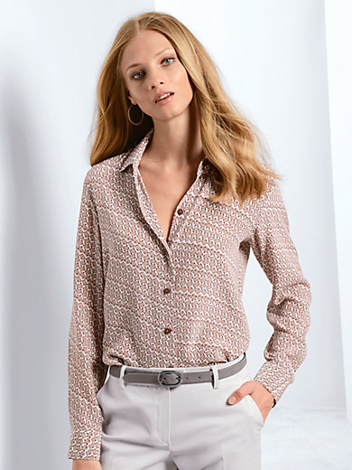 Fadenmeister Berlin - Bluse aus 100% Seide im Hemden-Schnitt
