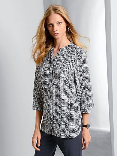 Fadenmeister Berlin - Blusen-Shirt aus 100 % Seide mit 3/4 Arm