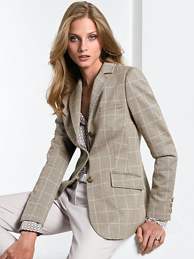 Fadenmeister Berlin - Jersey blazer with a revers collar