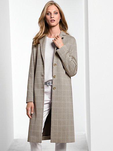 Fadenmeister Berlin - Jersey coat with an exquisite checked design