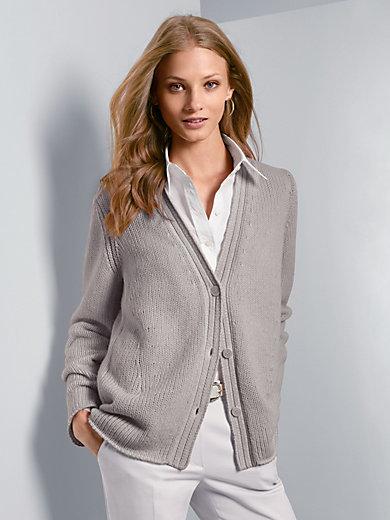 Fadenmeister Berlin - La veste en pur cachemire, col V, ligne droite