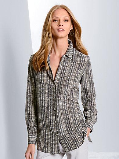 Fadenmeister Berlin - Le chemisier imprimé en soie à col chemise