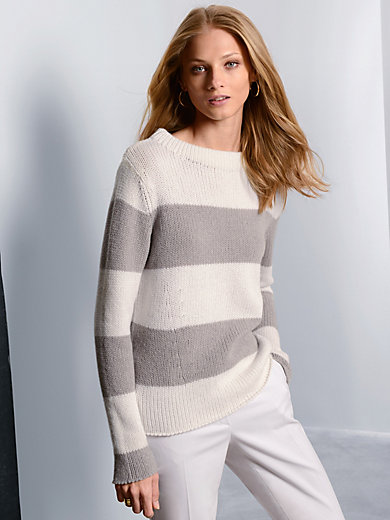 Fadenmeister Berlin - Le pull rayé en pur cachemire, col mode