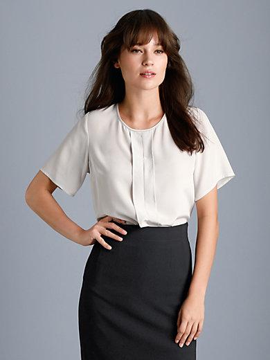 Fadenmeister Berlin - Le T-shirt chemisier en soie, manches courtes