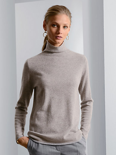 Fadenmeister Berlin - Polo neck jumper in 100% cashmere