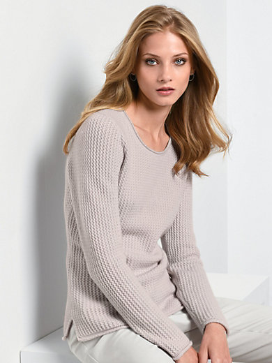 Fadenmeister Berlin - Round neck jumper in 100% cashmere