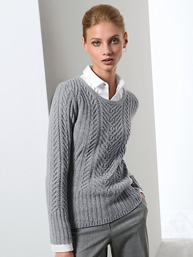Fadenmeister Berlin - Round neck jumper in 100% new milled wool