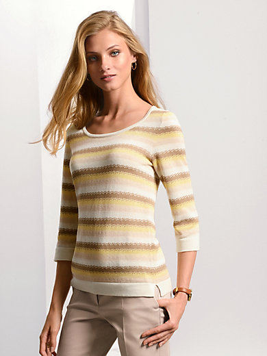 Fadenmeister Berlin - Round neck jumper with 3/4-length sleeves